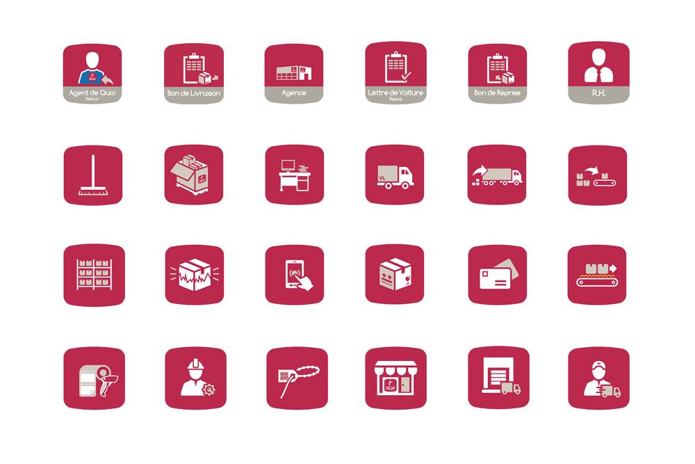 Création d'icônes pour les affiches Mondial Relay